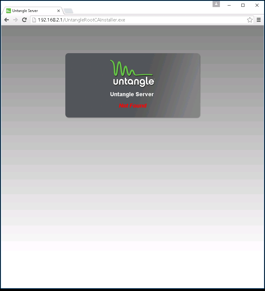 Captive Portal with Certificate Detection does not work on Untangle 12 1
