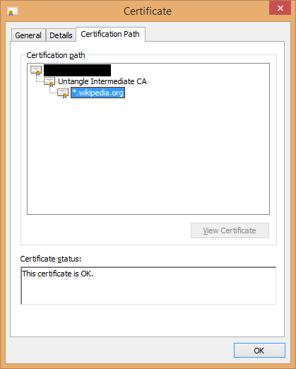 Using an intermediate certificate authority in Untangle