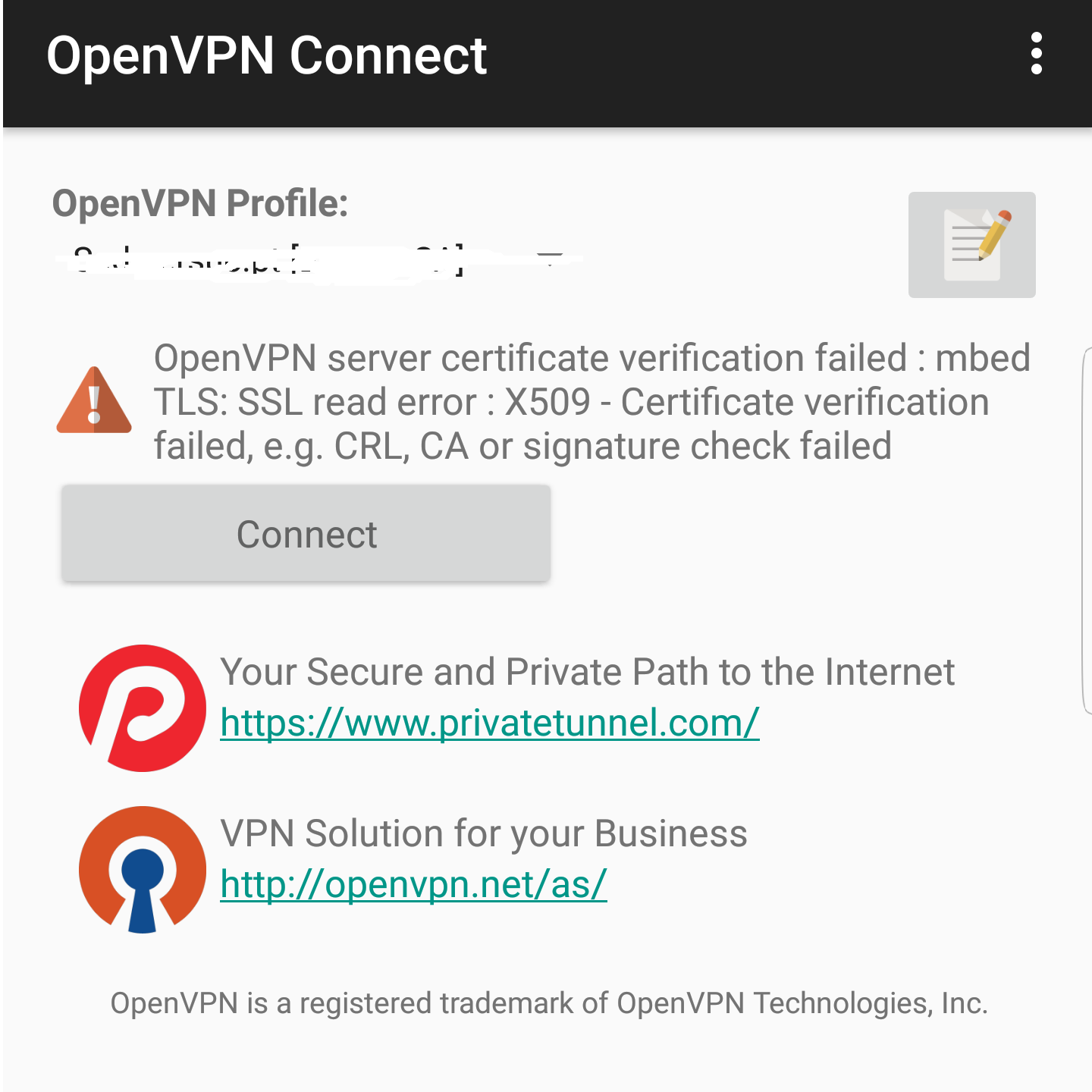 Openvpn App Android Connection Failed